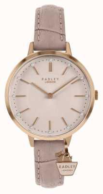 Radley | damski skórzany pasek | różowa tarcza | RY2802