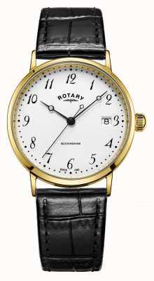 Rotary Męski zegarek z 9-karatowego złota GS11476/18