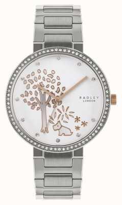 Radley | damska bransoleta ze stali nierdzewnej | tarcza z motywem drzewa | RY4387