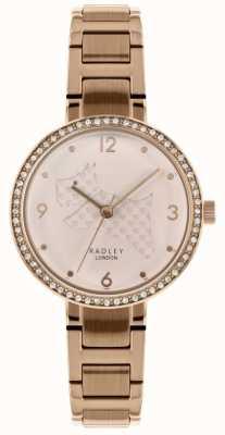 Radley | damska bransoleta ze stali różowej złota | wyciąć tarczę psa | RY4394