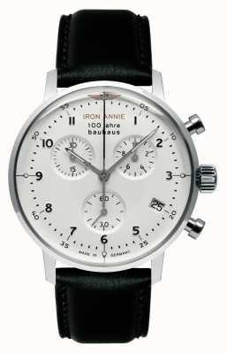 Iron Annie Bauhaus | chrono | biała tarcza | czarna skóra 5096-1