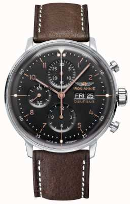 Iron Annie Bauhaus | automatyczne | chronograf | czarna tarcza 5018-2