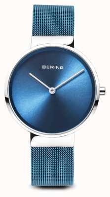 Bering Damskie | klasyczny | niebieska bransoleta ze stali powlekanej pvd 14531-308