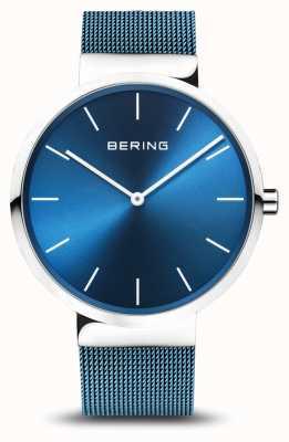 Bering Męskie | klasyczny | niebieska bransoleta ze stali powlekanej pvd 16540-308