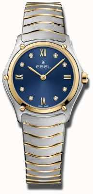 EBEL Sportowy klasyk damski | niebieska tarcza | bransoleta ze stali nierdzewnej 1216446A