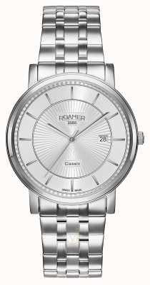 Roamer | linia klasyczna | bransoleta ze stali nierdzewnej | srebrna tarcza | 709856 41 17 70