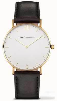 Paul Hewitt | zegarek marynarz unisex | czarny skórzany pasek | 6450854