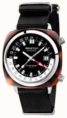 Briston Clubmaster gmt limitowany pasek automatyczny czarny nato 19842.SA.T.1.NB