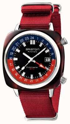 Briston Clubmaster gmt edycja limitowana | automatyczny | czerwony pasek nato 19842.SA.T.P.NR