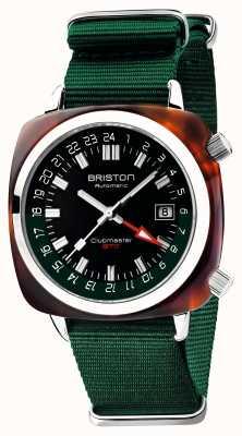 Briston Clubmaster gmt edycja limitowana | auto | zielony pasek nato 19842.SA.T.10.NBG