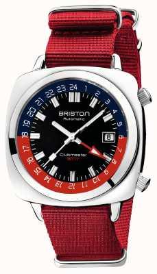 Briston Clubmaster gmt edycja limitowana | auto | czerwony pasek nato 19842.PS.G.P.NR