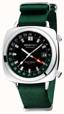 Briston Clubmaster gmt edycja limitowana | auto | zielony pasek nato 19842.PS.G.10.NBG
