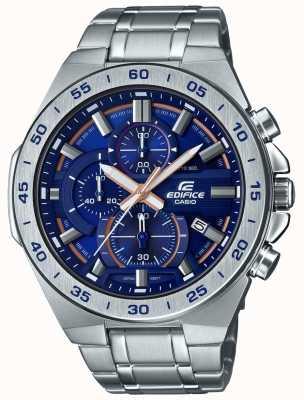 Casio | chronograf gmachowy bransoleta ze stali nierdzewnej | niebieska tarcza EFR-564D-2AVUEF