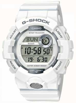 Casio | g-shock | zegarek sportowy, krokomierz | biały pasek z gumy GBD-800-7ER