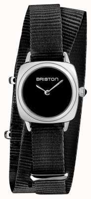 Briston | pani klubowicza | pojedynczy czarny pasek nato | czarna tarcza | 19924.S.M.1.NB