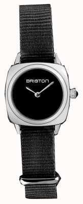 Briston | pani klubowicza | pojedynczy czarny pasek nato | czarna tarcza | 19924.S.M.1.NB - SINGLESTRAP