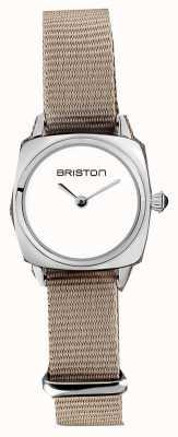 Briston | pani klubowicza | pojedynczy taupe nato pasek | biała tarcza | 19924.S.M.2.NT - SINGLESTRAP