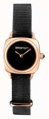 Briston | pani klubowicza | pojedynczy czarny nato | różowe pudełko na pvd | 19924.SPRG.M.1.NB - SINGLESTRAP