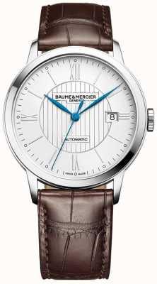 Baume & Mercier | męskie klasy | automatyczne | brązowa skóra | srebrna tarcza | M0A10214