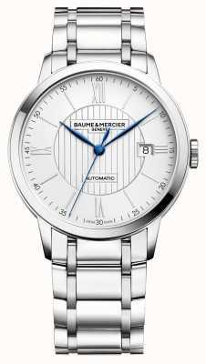 Baume & Mercier | męskie classima | automatyczny | stal nierdzewna | srebrna tarcza BM0A10215