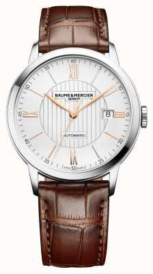 Baume & Mercier | męskie klasy | automatyczne | brązowa skóra | srebrna tarcza | M0A10263