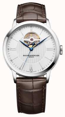 Baume & Mercier | męskie klasy | brązowa skóra | srebrna tarcza | automatyczne | M0A10274