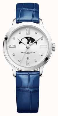 Baume & Mercier | classima kobiet | niebieska skóra | srebrna tarcza księżycowa | BM0A10329