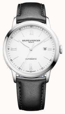 Baume & Mercier | męskie klasy | automatyczne | czarna skóra | biała tarcza | M0A10332
