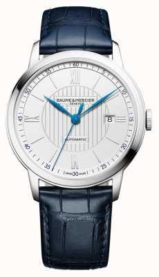 Baume & Mercier | męskie klasy | automatyczne | niebieska skóra | srebrna tarcza | M0A10333