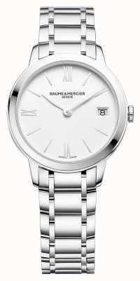 Baume & Mercier | damskie klasyki | bransoleta ze stali nierdzewnej | biała tarcza | M0A10335