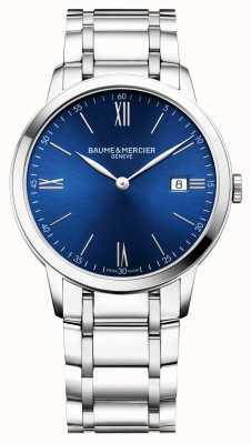 Baume & Mercier | męskie klasy | bransoleta ze stali nierdzewnej | niebieska tarcza | M0A10382