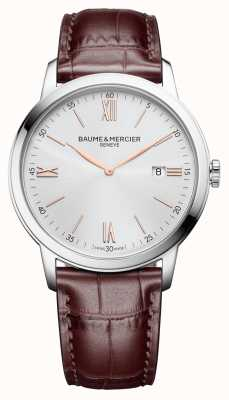 Baume & Mercier | męskie classima | jasnobrązowa skóra | srebrna tarcza | M0A10415
