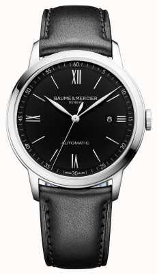 Baume & Mercier | męskie klasy | automatyczne | czarna skóra | czarna tarcza | M0A10453