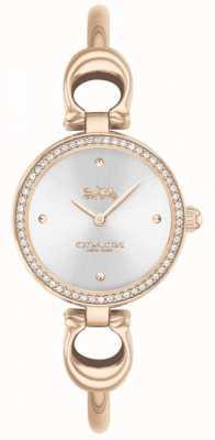 Coach | damskie | park | bransoletka z różowego złota | srebrna tarcza | 14503447