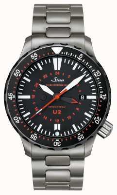 Sinn U2 sdr zegar z misji stalowej u-boat 1020.040bracelet
