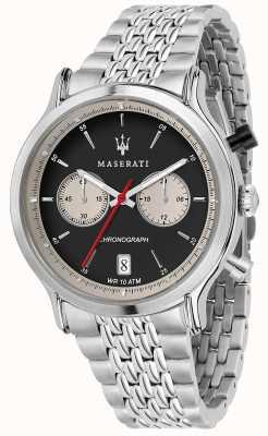 Maserati | wyścigi epoca 42mm | bransoleta ze stali nierdzewnej | czarna tarcza R8873638001