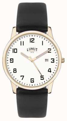 Limit | męska czarna skóra | srebrna tarcza | złota skrzynka | 5742.01