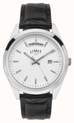 Limit | męska czarna skóra | srebrna tarcza | srebrna koperta | 5749.01