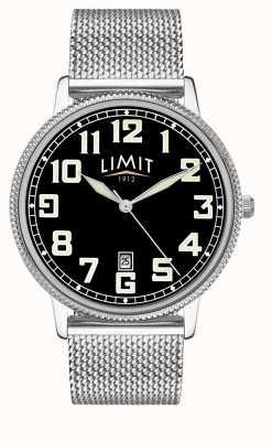 Limit | męska bransoleta ze stali nierdzewnej | czarna tarcza | 5748.01