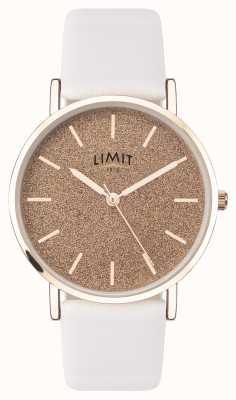 Limit | tajny ogród damski | biały skórzany pasek | różowa tarcza | 60044.73