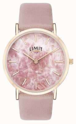 Limit | tajny ogród damski | różowy skórzany pasek | różowa tarcza | 60050.73