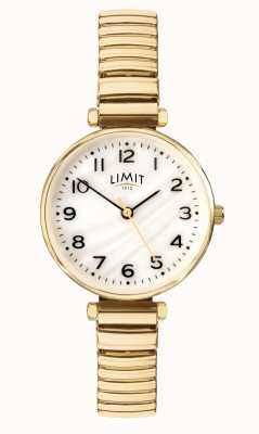 Limit | damska pozłacana bransoletka tarcza z masy perłowej | 60063.01