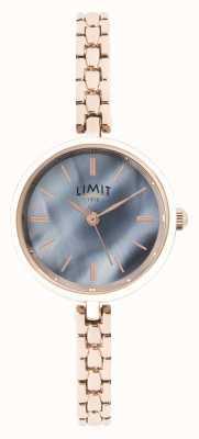 Limit | damska bransoletka z różowego złota | niebieska tarcza | 60064.01