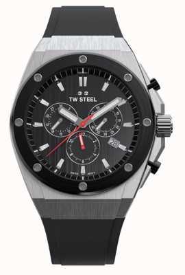 TW Steel Ceo tech | chrono | czarna tarcza | czarny pasek z gumy CE4042