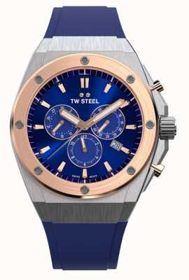 TW Steel | ceo tech | edycja limitowana | chronograf | niebieska guma | CE4046