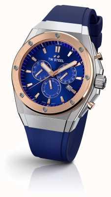 TW Steel | dyrektor techniczny | edycja limitowana | chronograf | niebieska guma | CE4046