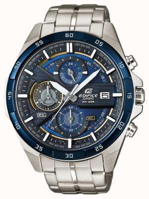 Casio | chronograf gmachowy stal nierdzewna | niebieska tarcza | EFR-556DB-2AVUEF