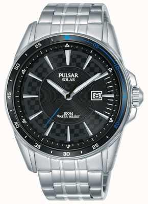 Pulsar | sport akceleratorowy | bransoleta ze stali nierdzewnej | czarna tarcza PX3203X1