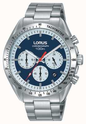Lorus | męski chronograf | bransoleta ze stali nierdzewnej | niebieska tarcza | RT339HX9