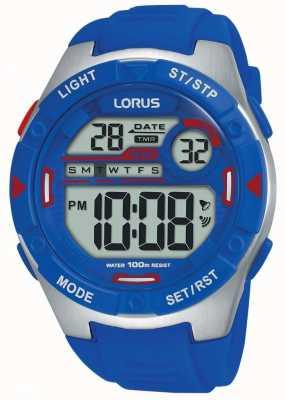 Lorus | męskie sportowe cyfrowe | niebieski pasek gumowy | R2301NX9